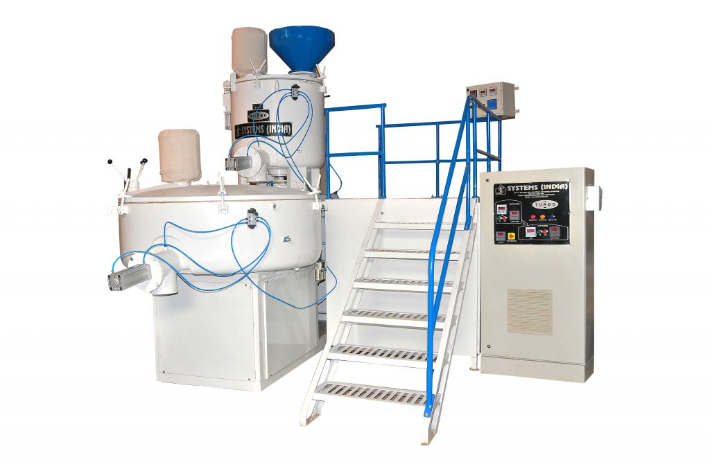 Heating Cooling Mixer - Turbo for recycling of PVC Pipes