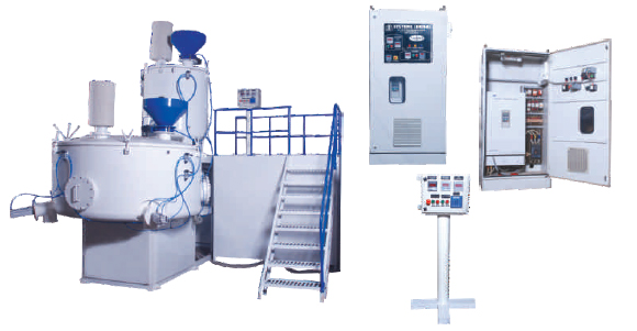 Heating Cooling Mixer for recycling of PVC Pipes